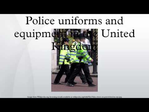 Police uniforms and equipment in the United Kingdom