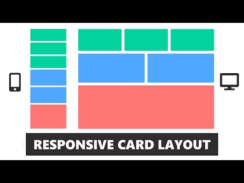 Responsive CSS Card Layout - Using Flexbox - CSS & HTML