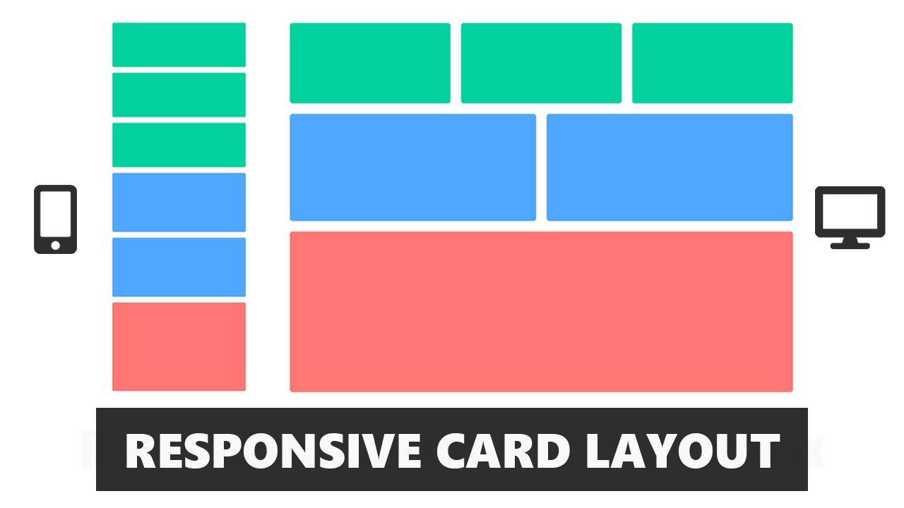 Responsive CSS Card Layout Using Flexbox , CSS & HTML