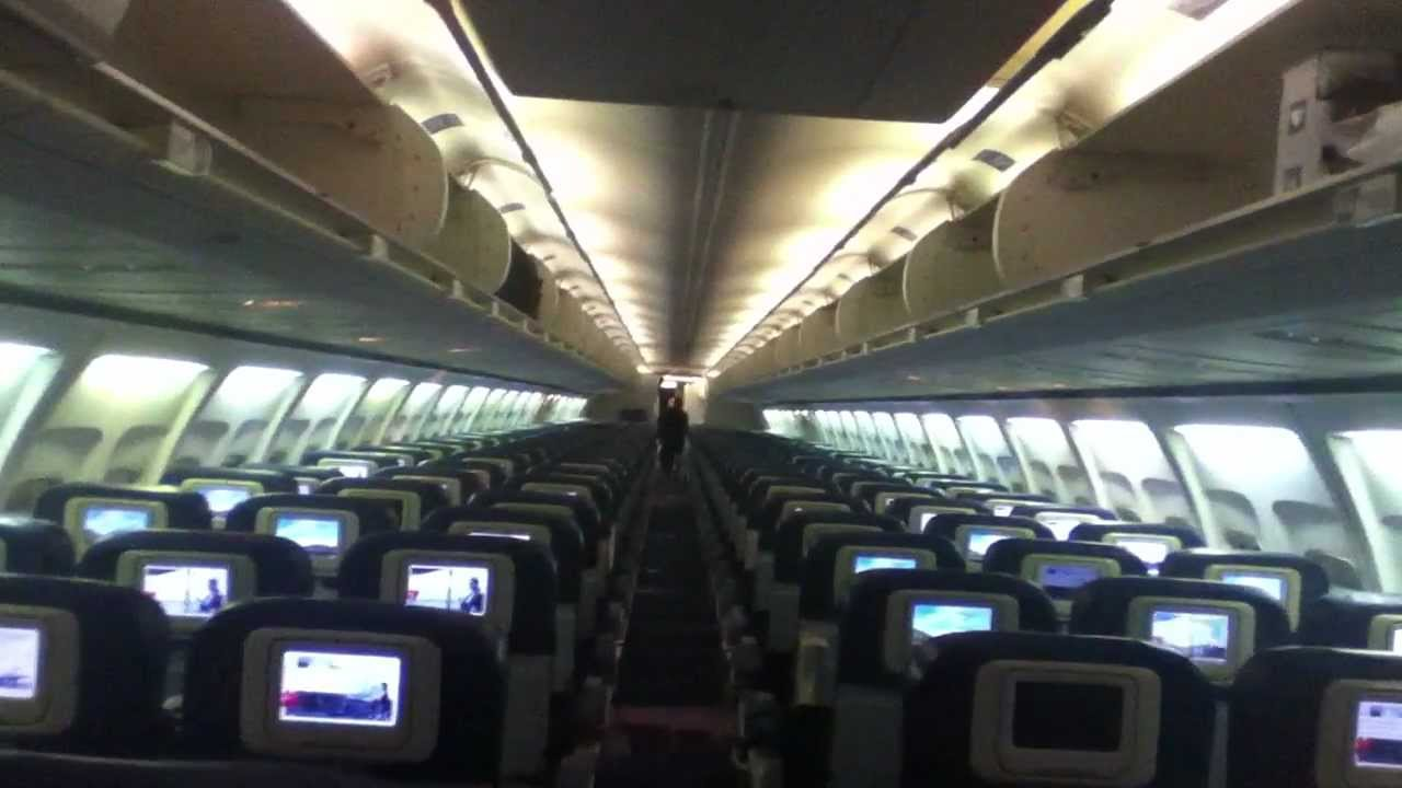 Delta boeing 757 200 x cabin walkaround and onboard for Interieur boeing 757