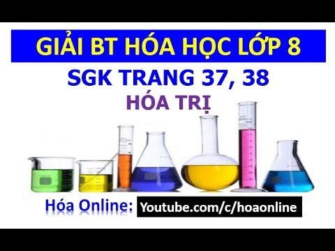 Giải bài tập hóa học 8 trang 37, 38 – Hóa trị
