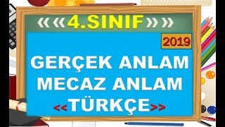 4.Sınıf Türkçe Gerçek Anlam Mecaz Anlam-Yardımcı Öğretmen