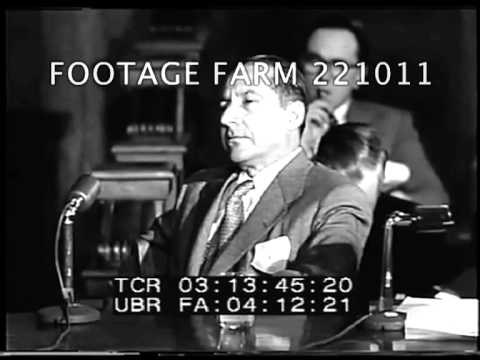 Kefauver Commission - Questioning Frank Costello 221011-05 | Footage Farm