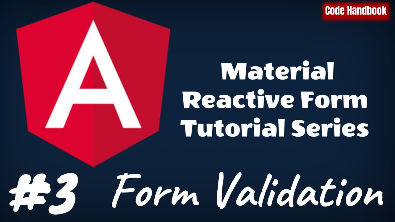 How To Validate Angular Material Reactive Form