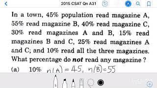2015 IAS_CSAT Qn A31, In a tow…