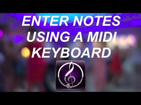 Sibelius 7 Record Music With a MIDI Keyboard