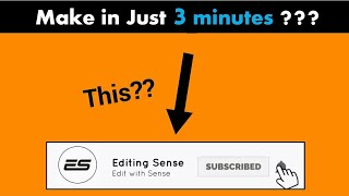 How to make Lower third subscribe and bell intro in Filmora or any editing software ||