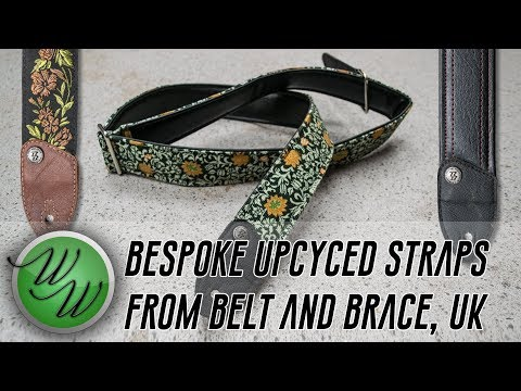 Unboxing Up-Cycled Guitar Straps From Belt and Brace