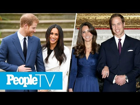 Meghan Markle Vs. Kate Middleton's Engagement Photos: Comparing The Rings, Dresses & More | PeopleTV