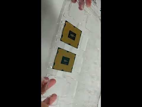 Shake test for Intel LGA2011 Core i7 Xeon E5 cpu plastic esd tray packaging   Foci