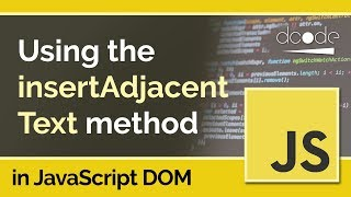 JavaScript DOM Tutorial - Element.insertAdjacentText()