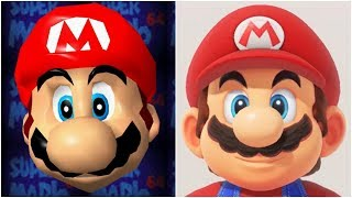 Evolution of 3D Super Mario Graphics (1996-2017)
