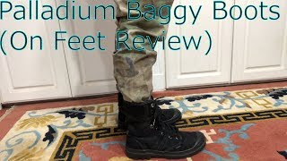 Palladium Baggy Boots On Feet Review
