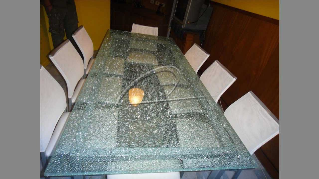 Tapas para mesa de cristal estallado o cristal crudo eco - Cristales para mesa ...