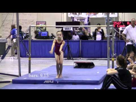 Anna Soto at Gymnastic Level 2/3 State Championshi...