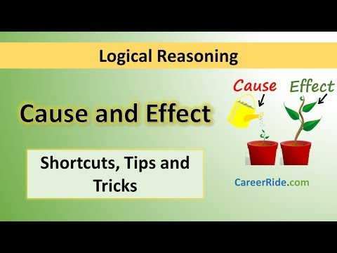 Cause and Effect - Tricks & Shortcuts for Placement tests, Job Interviews & Exams