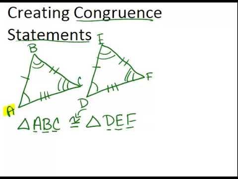 Congruent Figures & Congruency Statements