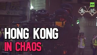 Hong Kong In Chaos Molotovs Teargas And Water Cannons