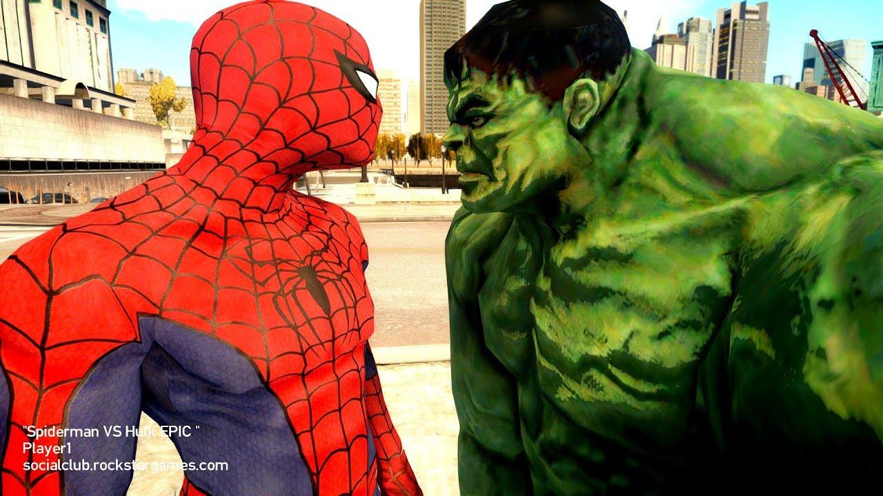 Spiderman Vs The Incredible Hulk Youtube