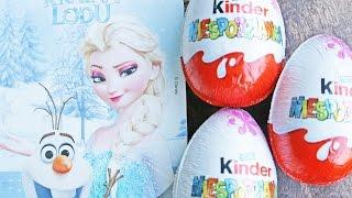 Disney Frozen - Kinder Niespodzianka - Zabawki z Filmu Kraina Lodu - Unboxing