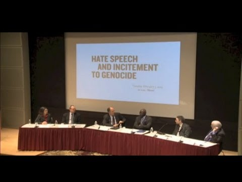Hate Speech and Incitement to Genocide Panel Discussion