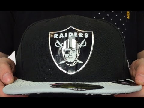 Raiders  2015 NFL DRAFT  Black-Grey Fitted Hat by New Era - YouTube aa94eb54025