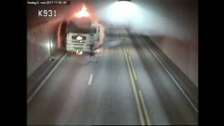 Statens vegvesen - brann i vogntog i Oslofjordtunnelen