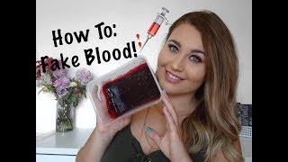 SFX The Basics | How To: Make Fake Blood