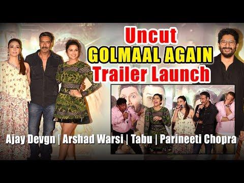 Uncut | Golmaal Again Trailer Launch | Ajay Devgn | Arshad Warsi | Tabu | Parineeti Chopra