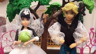 Маринетт и Адриан в сказке Волшебное яблоко и чудовище