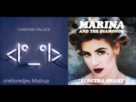 Powerful Crocodile - Caravan Palace vs. Marina & The Diamonds (Mashup)