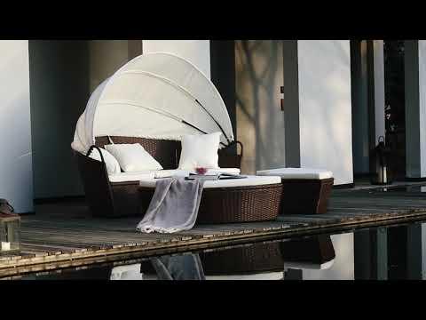 Lit de jardin modulable en résine tressée - YouTube