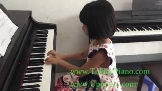 Lớp piano trẻ em Thủ Đức - Quỳnh Anh- Happy Birthday [TT ÂN Upponia - Tự Học Piano.com]