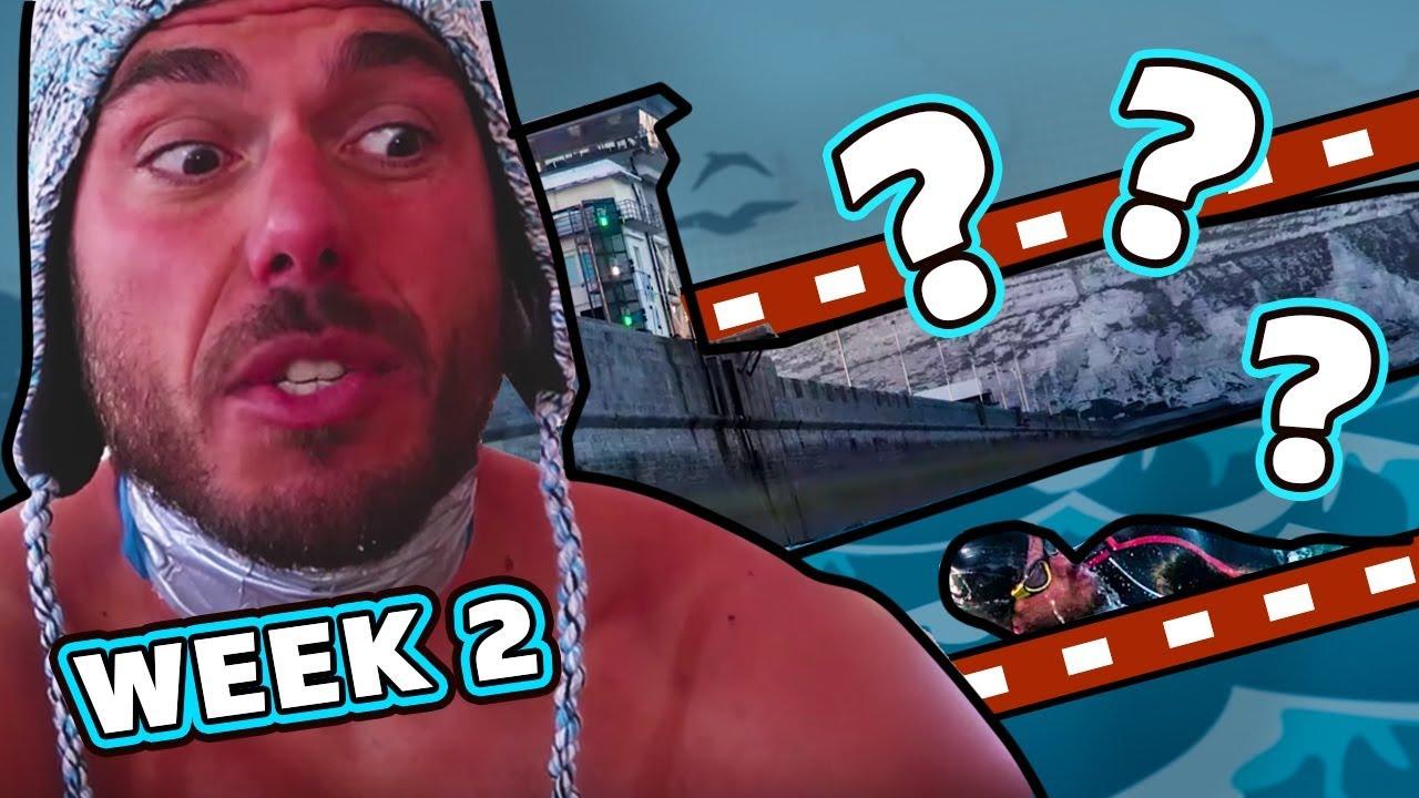 Is he supposed to swim here? | The Great British Swim:E2