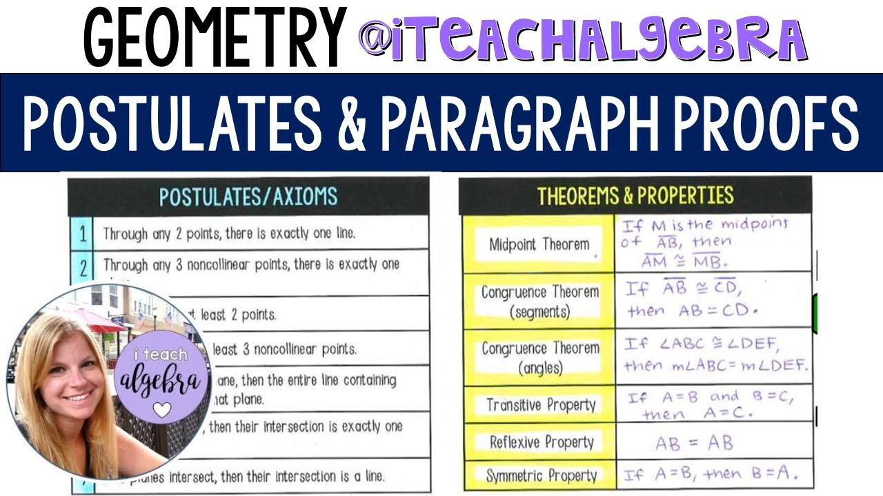 geometry  postulates and paragraph proofs  youtube