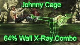 Johnny Cage 64% Wall X-Ray Combo Tutorial - Mortal Kombat 9 MK9