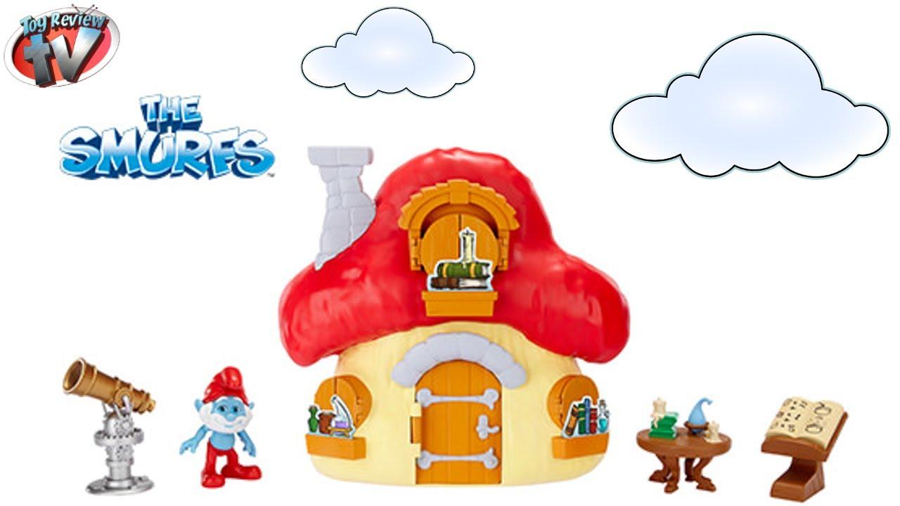 PAPA SMURF MUSHROOM HOUSE PLAYSET *NEW*