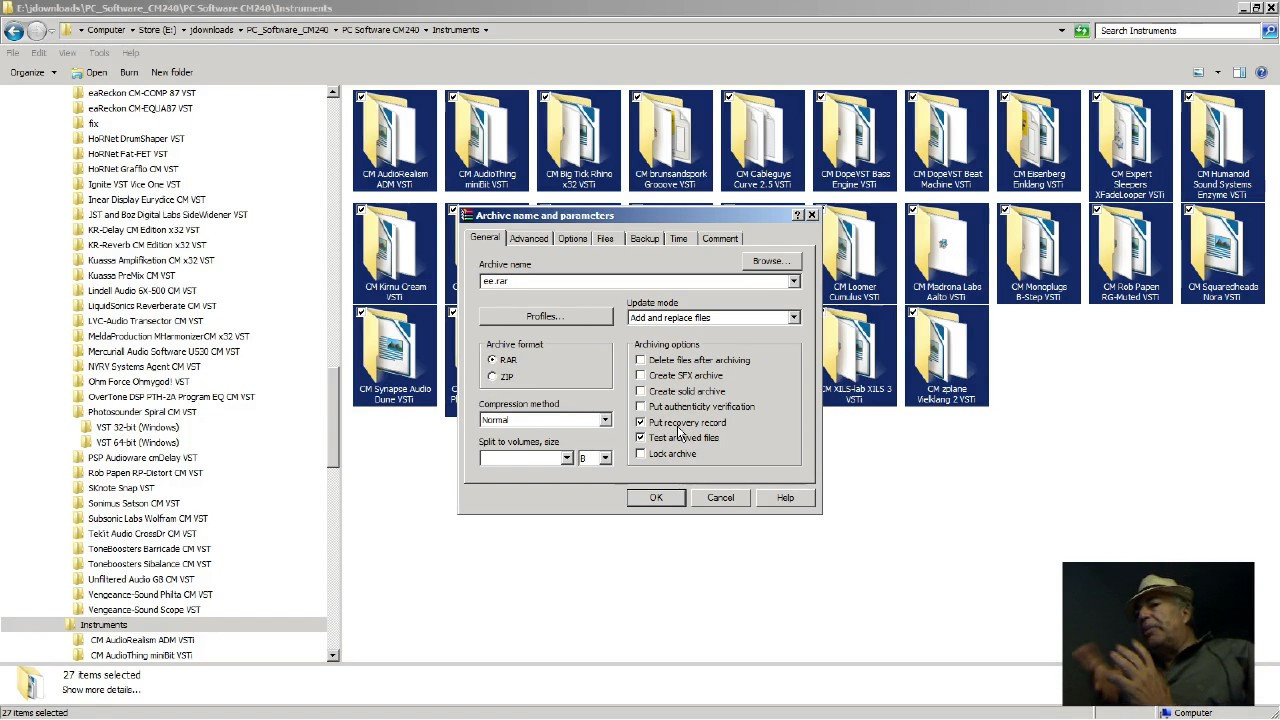 Tutorial Separately Batch Compress a bunch of files or folders (zip or rar)  w WinRar