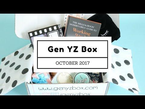 Gen YZ Box (Y Box) Subscription Box Unboxing October 2017