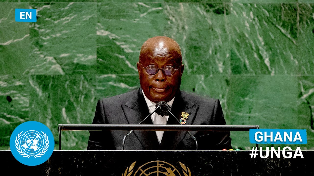 Download 🇬🇭 Ghana - President Addresses United Nations General Debate, 76th Session (English)   #UNGA
