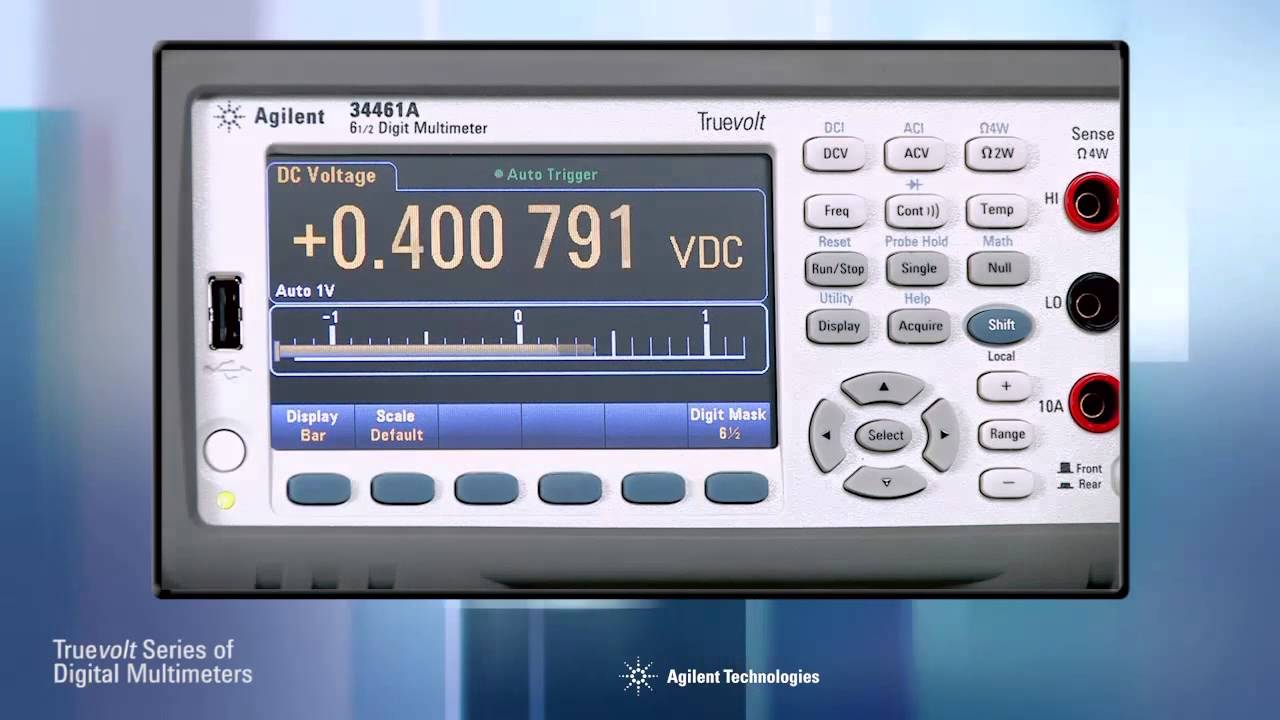 Truevolt Digital Multimeters Introducing the 34460A and 34461A Video  Demonstration