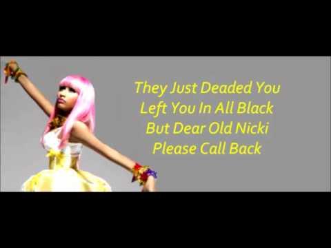 Dear Old Nicki  Nicki Minaj With Lyrics