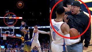 Harris Game Winner | Shoot Over Westbrook | Fan Wants to Fight Westbrook (Random Moments)