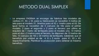 Método dual simplex.