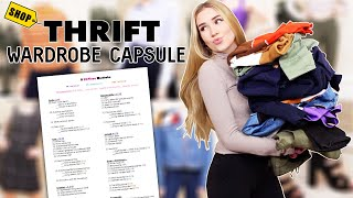 I Tried A THRIFTED Capsule Wardrobe !! *budget friendly*