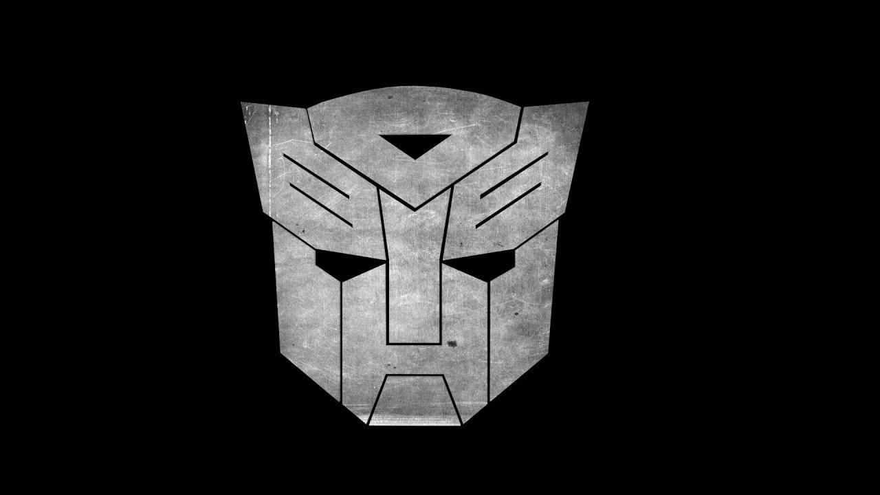 transformers autobots logo rotation black background