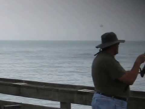 Catching spot in may at the va beach fishing pier youtube for Fishing spots in virginia beach