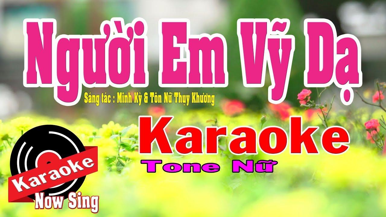 Người Em Vỹ Dạ Karaoke [ Beat chuẩn Tone Nữ ] cực hay