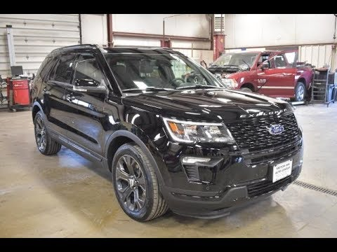 Black Ford Explorer >> 2018 Black Ford Explorer Sport 4x4 Ft6388 Motor Inn Auto Group