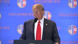 Donald Trump: Rueda de prensa en Singapur